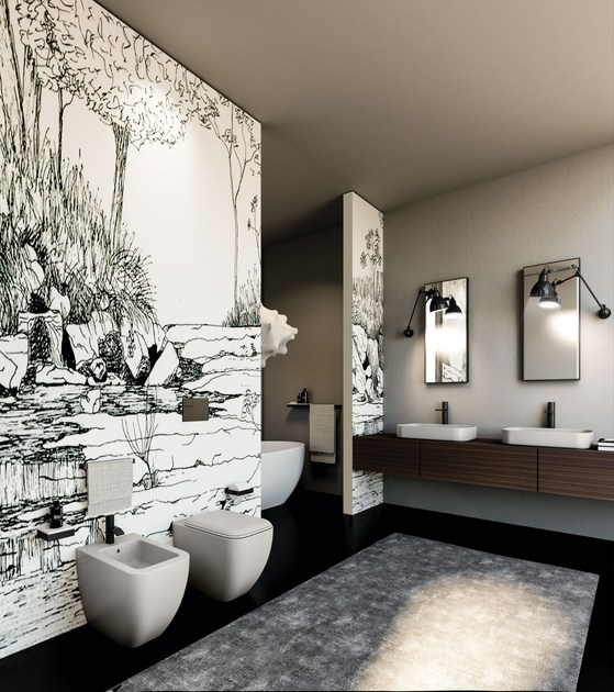 Contemporary style ceramic toilet SHUI COMFORT | wc a terra By ...