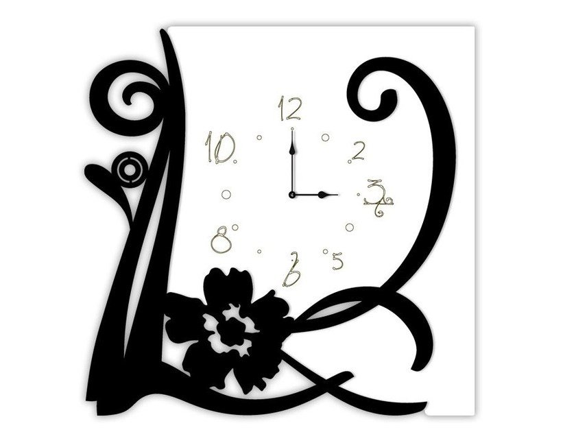 Wall-mounted MDF clock SI-194 | Clock by LAS