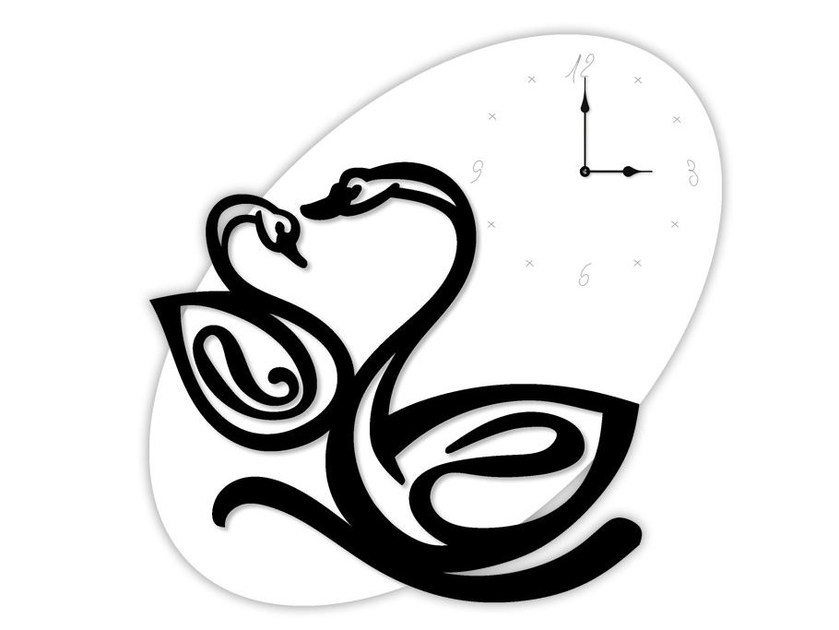 Wall-mounted MDF clock SI-241OR | Clock by LAS