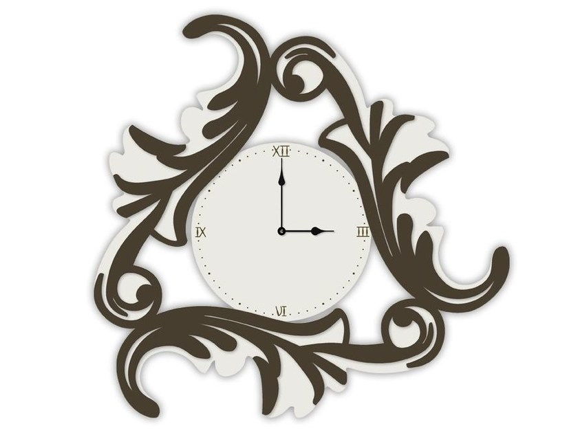 Wall-mounted MDF clock SI-245OR | Clock by LAS