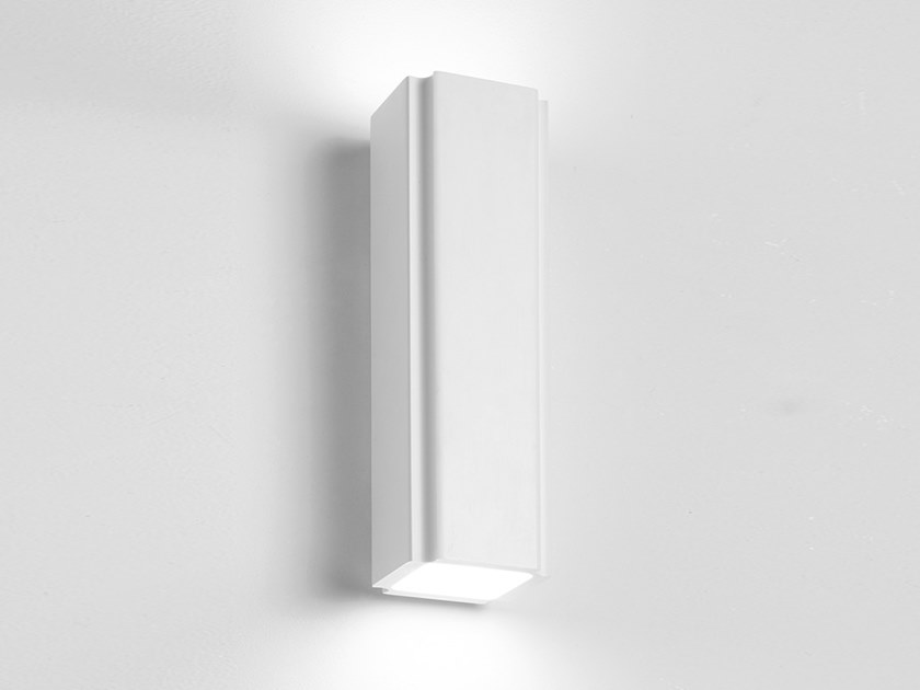 Direct-indirect light plaster wall light SICYON by Sforzin