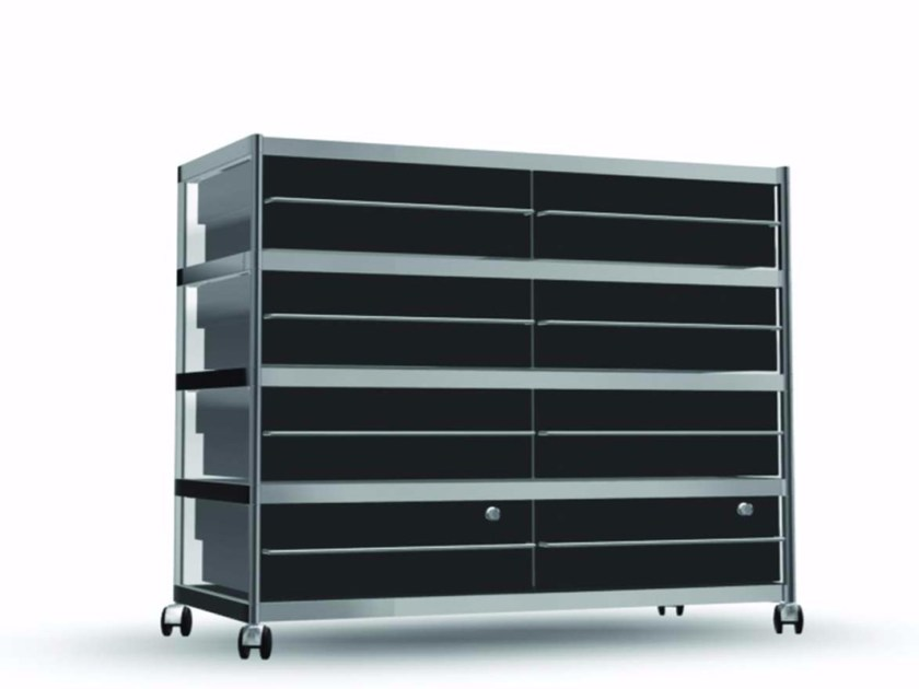 Methacrylate chest of drawers with casters SID006 - SEC_sid006 by Alias