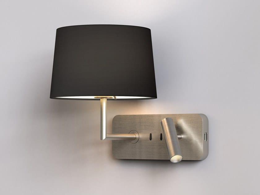 Lampada da lettura a LED in metallo con USB SIDE BY SIDE GRANDE USB by Astro Lighting