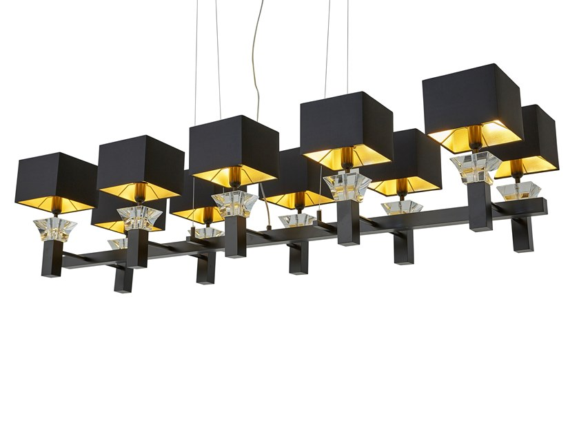 Contemporary style direct-indirect light metal pendant lamp SIDE BY SIDE H10 by ILFARI