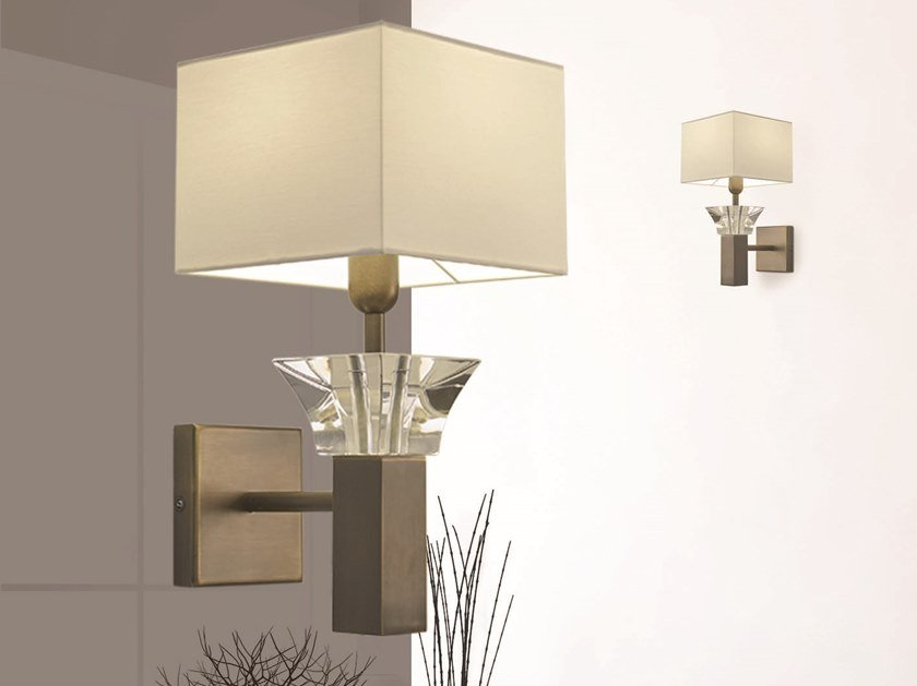 Wall lamp with fixed arm SIDE BY SIDE W1 by ILFARI