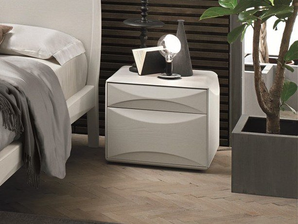 Lacquered rectangular bedside table with drawers SIDNEY | Lacquered bedside table by Gruppo Tomasella