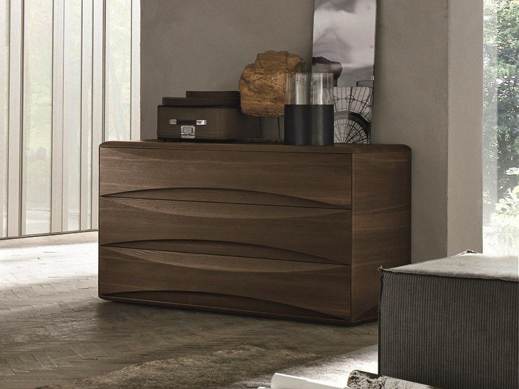 Oak chest of drawers with integrated handles SIDNEY | Oak chest of drawers by Gruppo Tomasella
