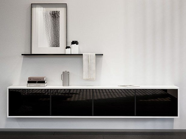 Lacquered suspended sideboard SieMatic PURE COLLECTION | Sideboard by SieMatic