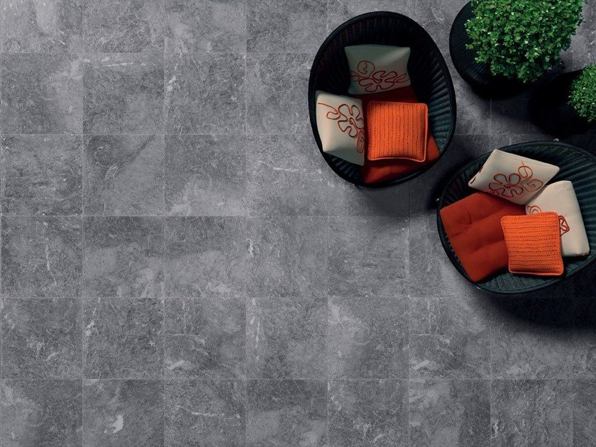 Anti-slip anti-static ecological wall/floor tiles SIGHT ANTHRACITE by CERAMICHE KEOPE
