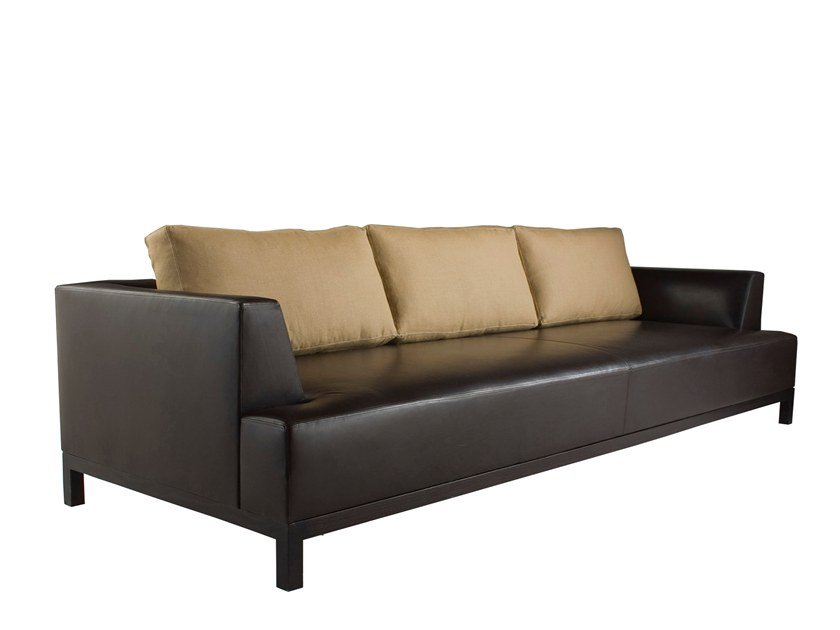 3 seater leather sofa SIGISBERT by Laval