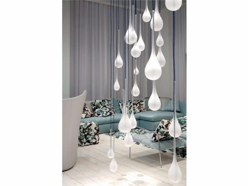 Contemporary style glass pendant lamp SIGMA by melogranoblu