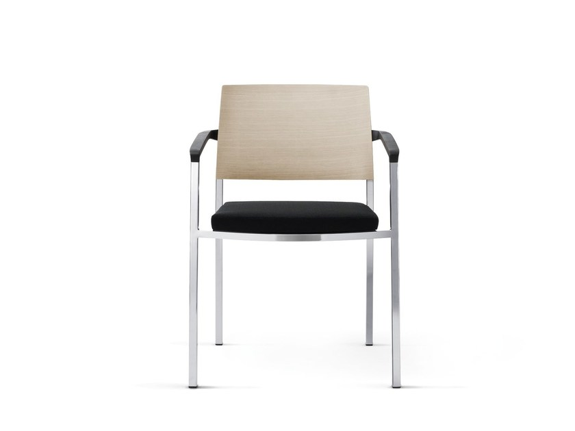 Stackable chair with armrests SIGN_2 | Chair with armrests by Wiesner-Hager
