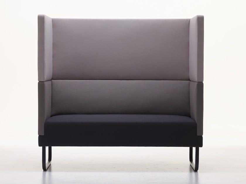 2 seater high-back fabric sofa SILENCE-SH by Ferrante