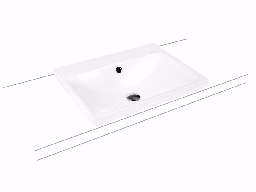 Inset enamelled steel washbasin SILENIO | Inset washbasin by Kaldewei Italia