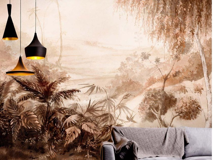 Tropical wallpaper, eco-friendly, PVC free and washable SILENT LANDSCAPE by Wallpepper Group