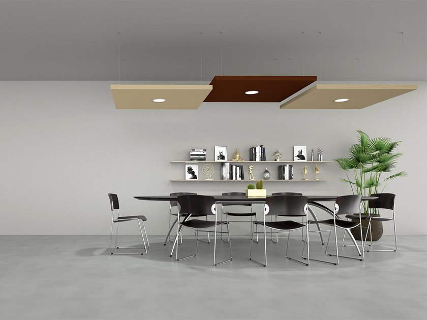 Sound-absorbing ceiling panel SILENTE | Hanging acoustic panel by Caruso Acoustic