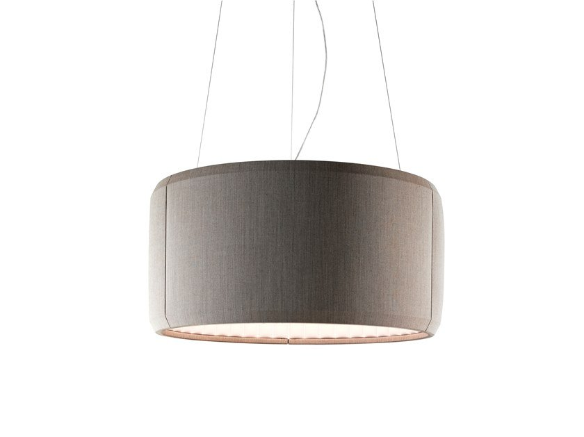 LED fabric pendant lamp SILENZIO by LUCEPLAN
