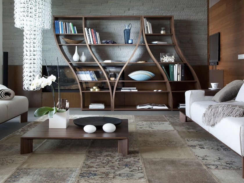 Open wooden shelving unit SILHOUETTE by Tonon