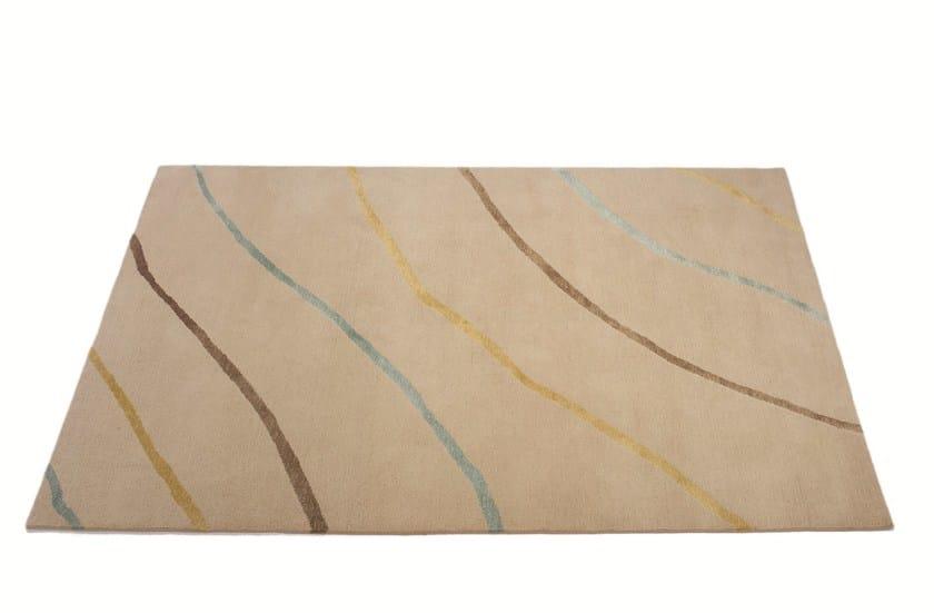 Handmade rectangular rug SILK DIAGONALS by Deirdre Dyson