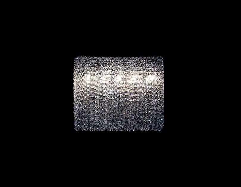 Halogen handmade crystal wall lamp SILK W | Wall lamp by Manooi
