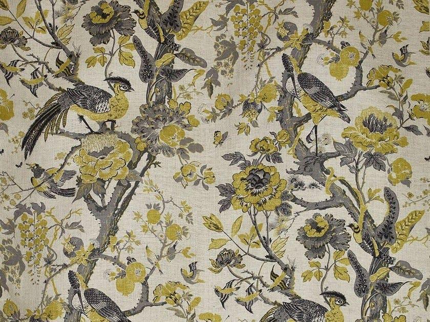 Silk fabric with floral pattern SILKBIRD by Dedar
