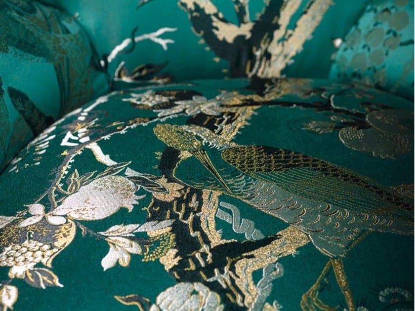 Jacquard fabric with floral pattern SILKBIRD JACQUARD by Dedar