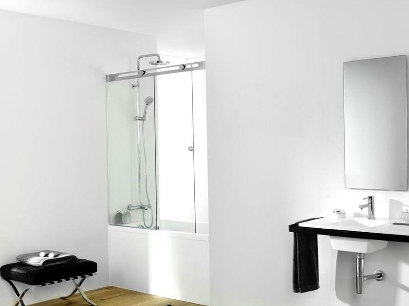 Glass bathtub wall panel SILKE 9B by Systempool