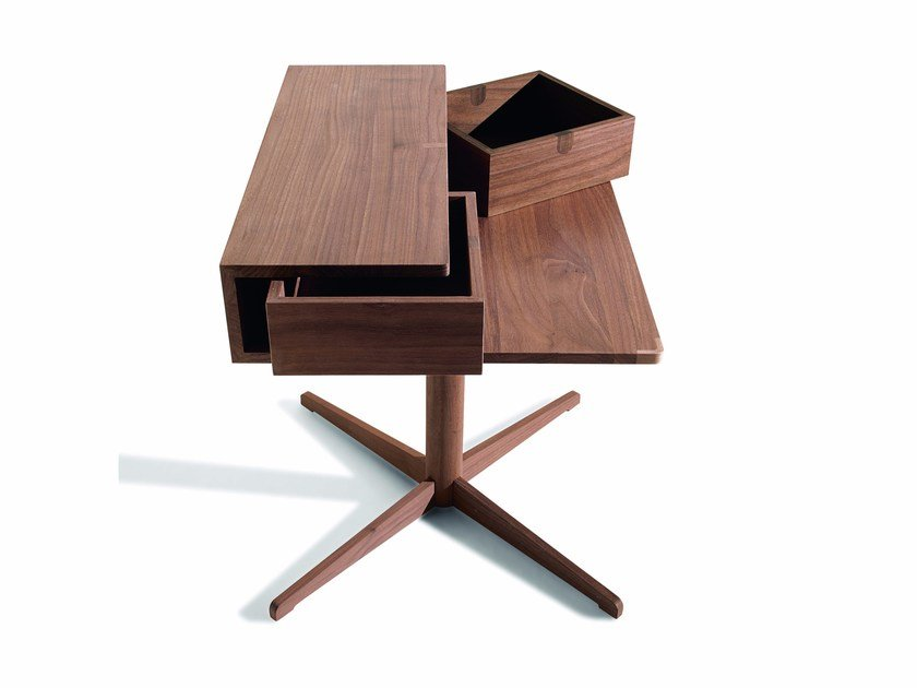 Oak bedside table with drawers SILO by Lema