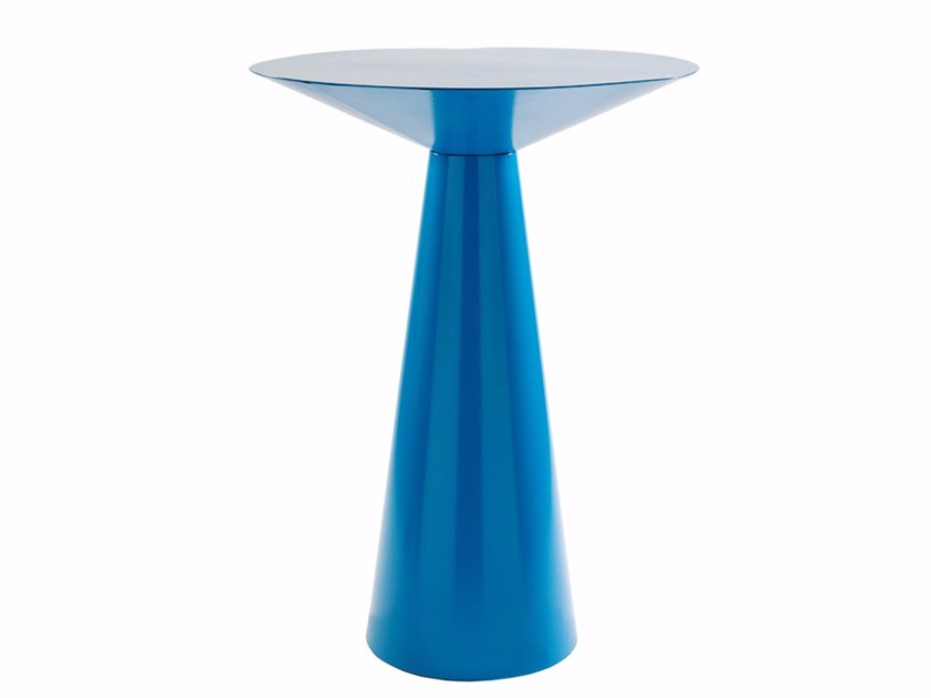Round steel contract table SILOS-RAL | Steel table by Vela Arredamenti