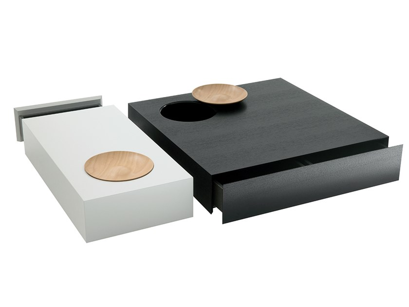Low coffee table with storage space SILVA by HC28
