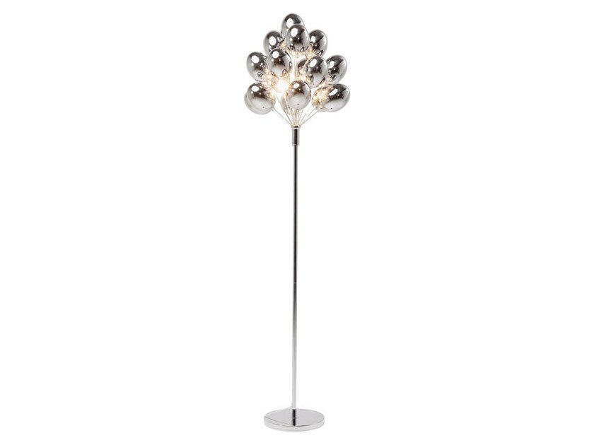 Glass and steel floor lamp SILVER BALOONS | Floor lamp by KARE-DESIGN