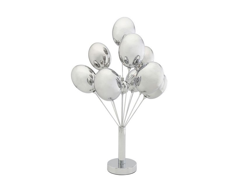 Glass and steel table lamp SILVER BALOONS | Table lamp by KARE-DESIGN