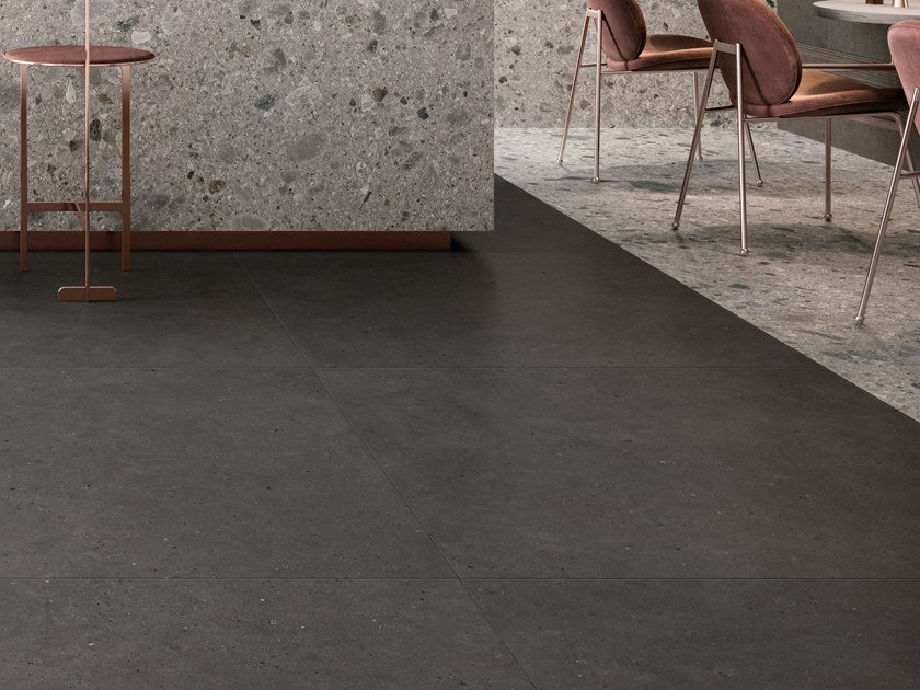 Porcelain stoneware wall/floor tiles with stone effect SILVER GRAIN DARK by Italgraniti