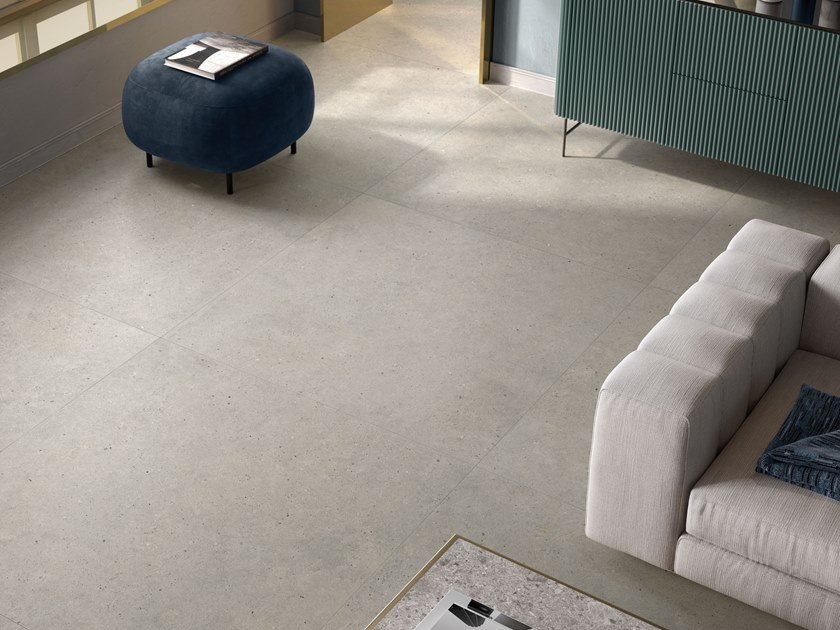 Porcelain stoneware wall/floor tiles with stone effect SILVER GRAIN GREY by Italgraniti