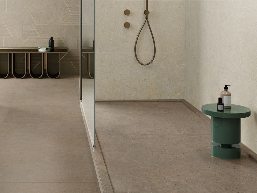 Porcelain stoneware wall/floor tiles with stone effect SILVER GRAIN TAUPE by Italgraniti