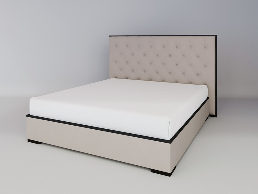 Upholstered fabric bed double bed with tufted headboard SILVER LINE | Bed with tufted headboard by ITALIANELEMENTS