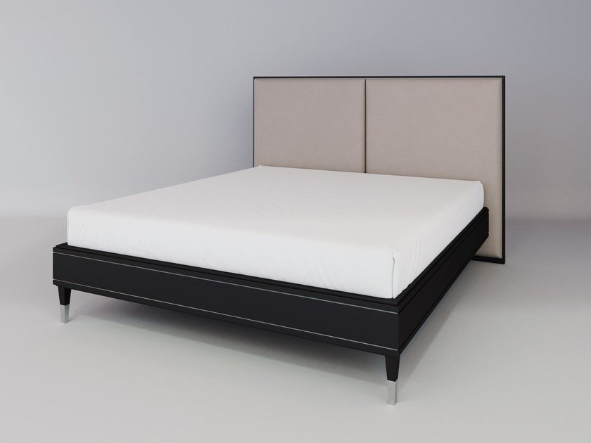 Fabric bed double bed with upholstered headboard SILVER LINE   Bed with upholstered headboard by ITALIANELEMENTS