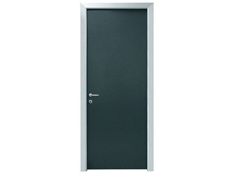 Hinged aluminum and melamine door SILVER by NUSCO