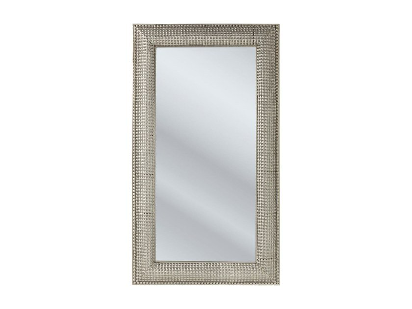 Rectangular wall-mounted framed mirror SILVER PEARLS 160 x 90 by KARE-DESIGN