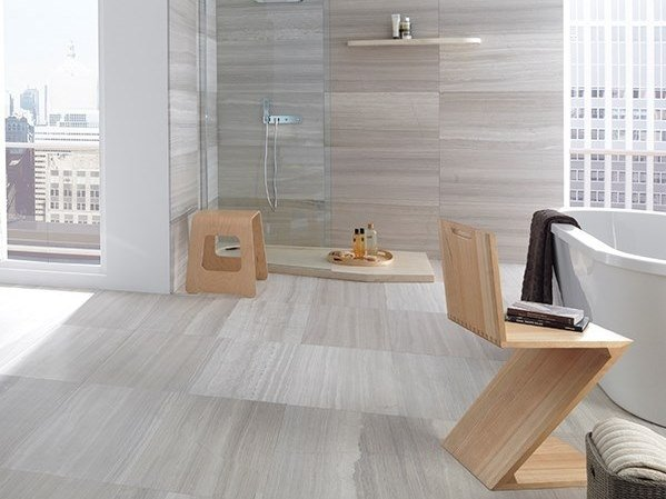 Travertine wall/floor tiles SILVER WOOD by L'ANTIC COLONIAL