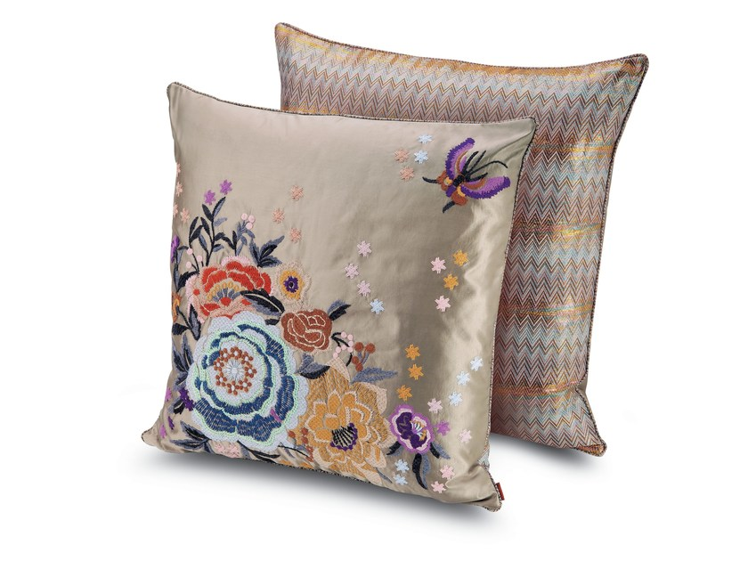 Square fabric cushion SILVES by MissoniHome