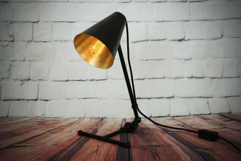 Contemporary style direct-indirect light handmade LED brass table lamp SIMA TABLE LAMP | Table lamp by Mullan Lighting