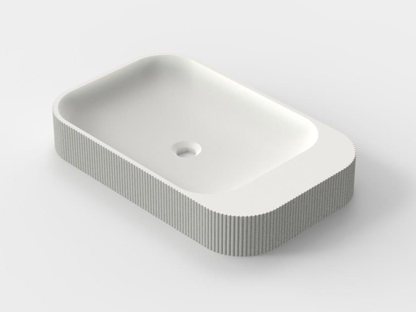 3D printed countertop quartz sand washbasin SIMBIOSIS S-02 by Sandhelden