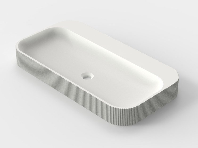3D printed countertop quartz sand washbasin SIMBIOSIS S-03 by Sandhelden