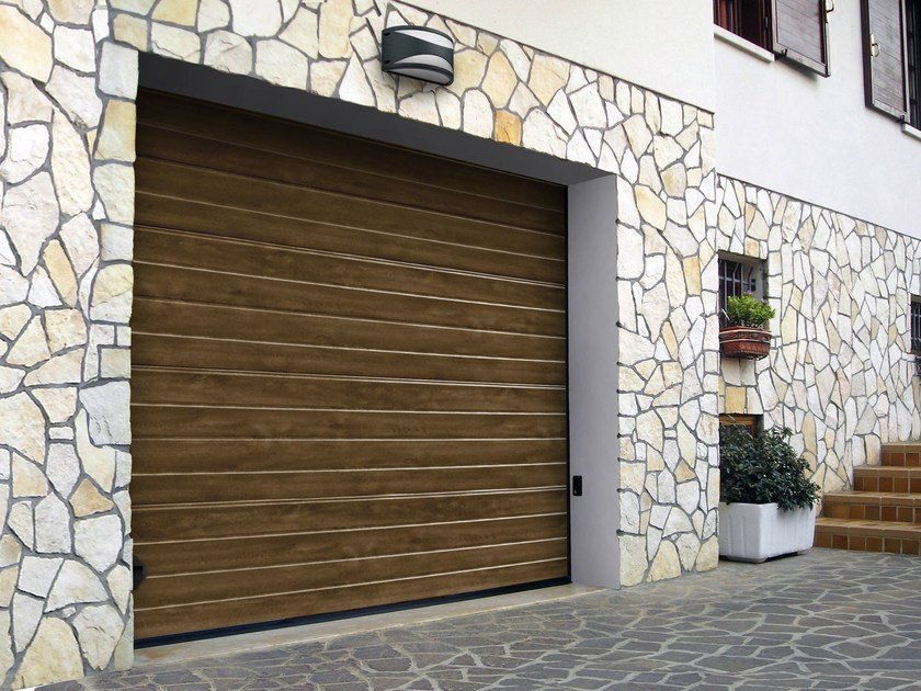 Sectional garage door SIMIL LEGNO ULTRA TOUCH by Breda