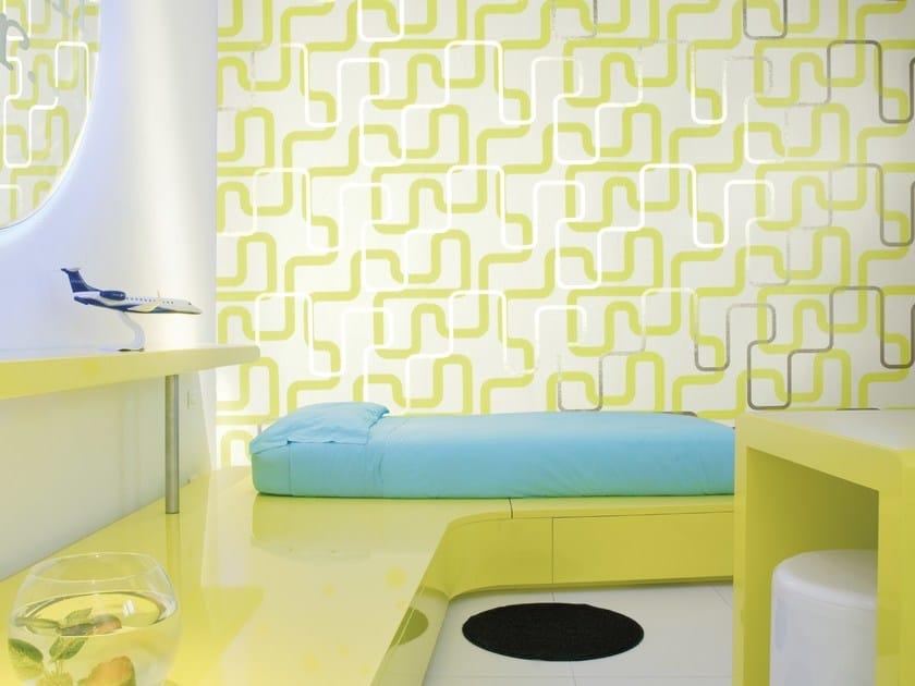 Washable nonwoven wallpaper SIMONE MICHELI U-TURN by Omexco