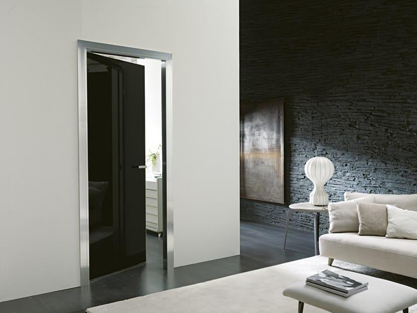 Hinged glass and aluminium door SIMPLE GEMINI by Bertolotto Porte
