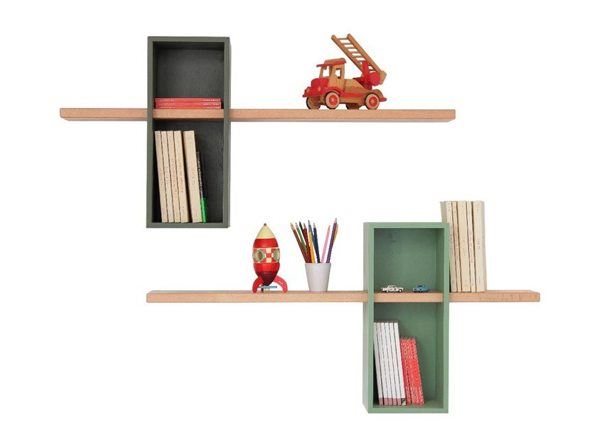 Wall-mounted sectional bookcase SIMPLE XL by Compagnie
