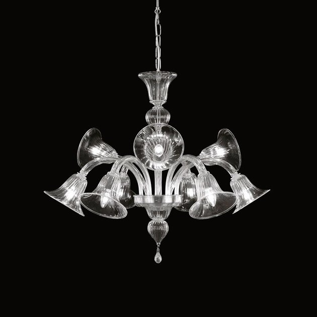Classic style handmade glass chandelier SIMPLICISSIMUS 390 | Glass chandelier by MULTIFORME
