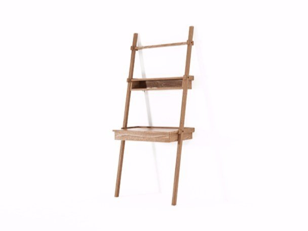 Open teak shelving unit with drawers SIMPLICITY SC03-T by KARPENTER